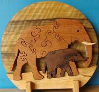 Пазлы из фанеры - слоны
