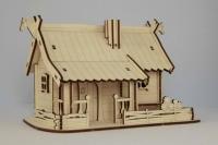 Игрушки из фанеры - макет деревянного дома