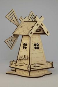 Игрушки из фанеры - деревянная мельница