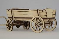 Игрушки из фанеры - деревянная повозка, тележка