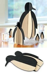 Игрушки из фанеры - пингвины
