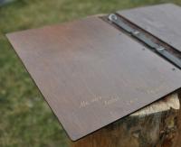 Папки меню для ресторана из дерева и кожи
