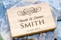 Разделочные доски с гравировкой - подарок для влюблённых, сердце