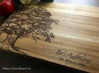 Разделочные доски с гравировкой - подарок семье в юбилей