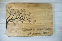 Разделочные доски с гравировкой - подарок на свадьбу