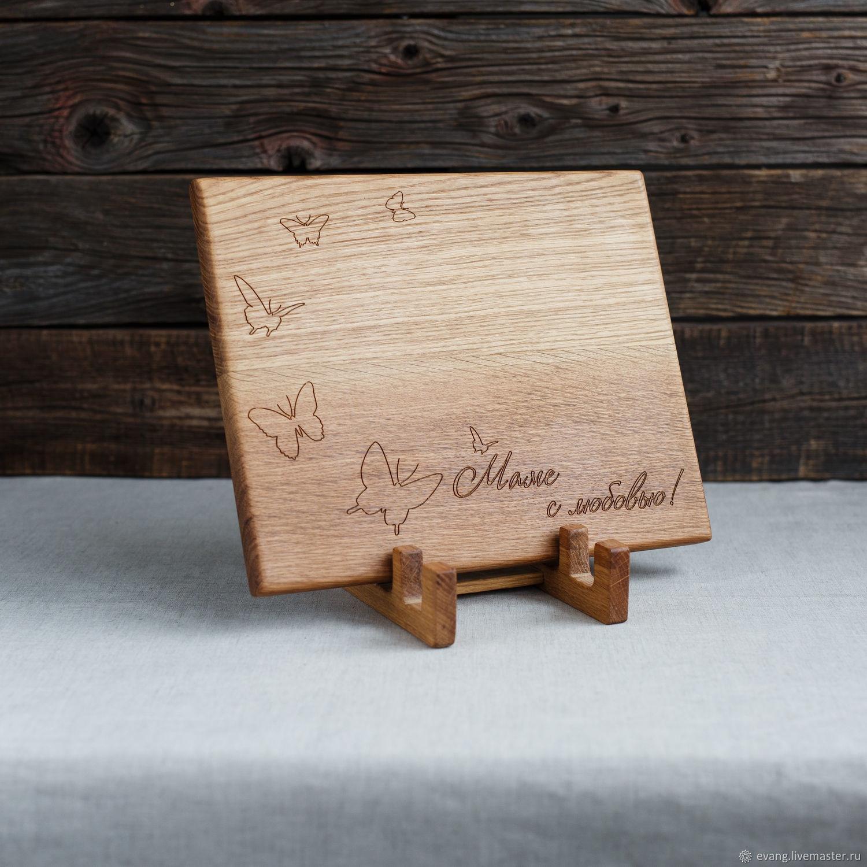 Разделочные доски с гравировкой - подарок маме